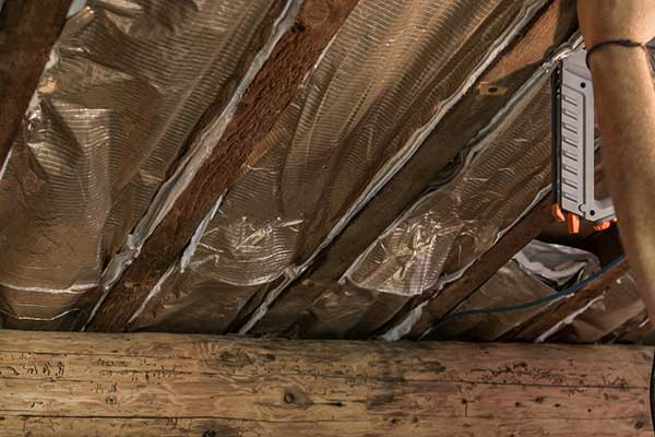 Commercial Attic Insulation Radiant Barrier Installation